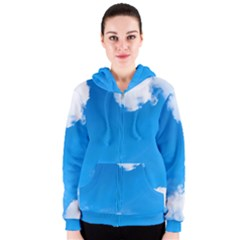 Sky Clouds Blue White Weather Air Women s Zipper Hoodie