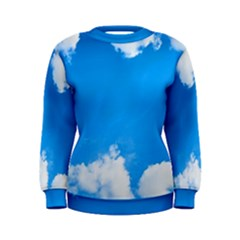Sky Clouds Blue White Weather Air Women s Sweatshirt
