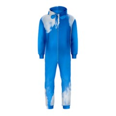Sky Clouds Blue White Weather Air Hooded Jumpsuit (Kids)