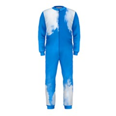 Sky Clouds Blue White Weather Air OnePiece Jumpsuit (Kids)