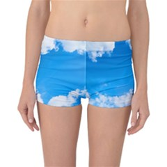 Sky Clouds Blue White Weather Air Reversible Bikini Bottoms