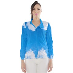 Sky Clouds Blue White Weather Air Wind Breaker (women)