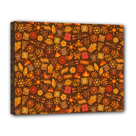 Pattern Background Ethnic Tribal Canvas 14  X 11