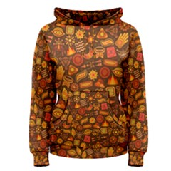 Pattern Background Ethnic Tribal Women s Pullover Hoodie