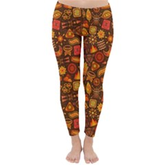 Pattern Background Ethnic Tribal Classic Winter Leggings