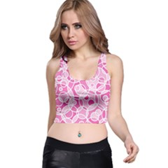 Pattern Racer Back Crop Top