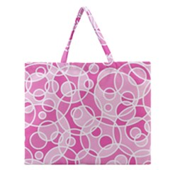 Pattern Zipper Large Tote Bag