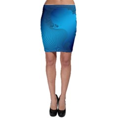 Fractals Lines Wave Pattern Bodycon Skirt