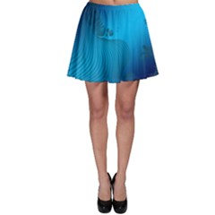 Fractals Lines Wave Pattern Skater Skirt