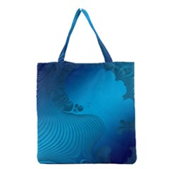 Fractals Lines Wave Pattern Grocery Tote Bag