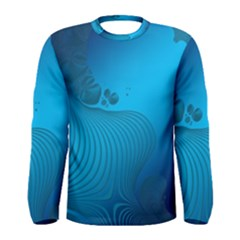Fractals Lines Wave Pattern Men s Long Sleeve Tee