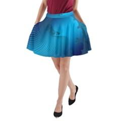 Fractals Lines Wave Pattern A Line Pocket Skirt