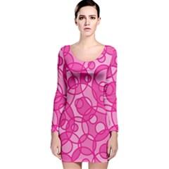 Pattern Long Sleeve Velvet Bodycon Dress