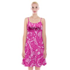 Pattern Spaghetti Strap Velvet Dress