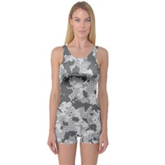 Camouflage Patterns  One Piece Boyleg Swimsuit