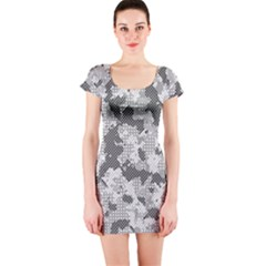 Camouflage Patterns  Short Sleeve Bodycon Dress