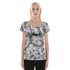 Camouflage Patterns  Women s Cap Sleeve Top