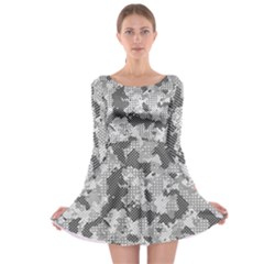 Camouflage Patterns  Long Sleeve Skater Dress