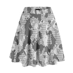 Camouflage Patterns  High Waist Skirt