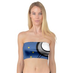 A Rocket Ship Sits On A Red Planet With Gold Stars In The Background Bandeau Top