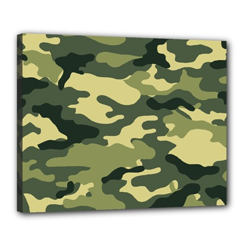 Camouflage Camo Pattern Canvas 20  X 16