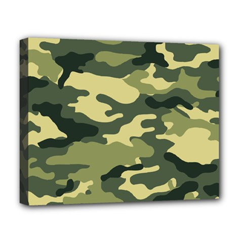 Camouflage Camo Pattern Deluxe Canvas 20  x 16