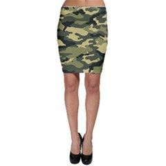 Camouflage Camo Pattern Bodycon Skirt