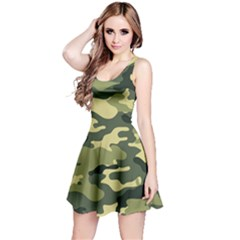 Camouflage Camo Pattern Reversible Sleeveless Dress