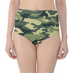 Camouflage Camo Pattern High-Waist Bikini Bottoms