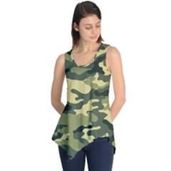 Camouflage Camo Pattern Sleeveless Tunic