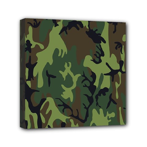Military Camouflage Pattern Mini Canvas 6  X 6