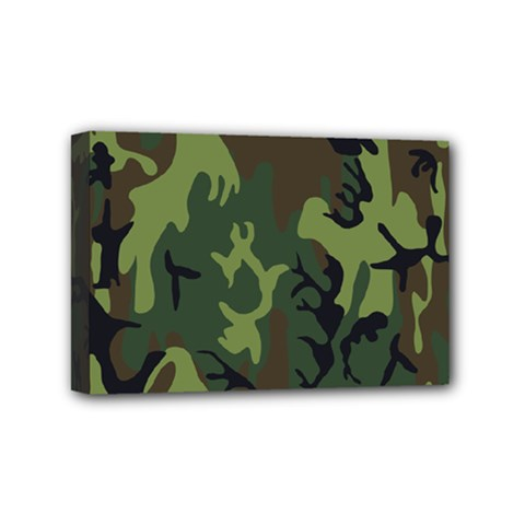 Military Camouflage Pattern Mini Canvas 6  X 4