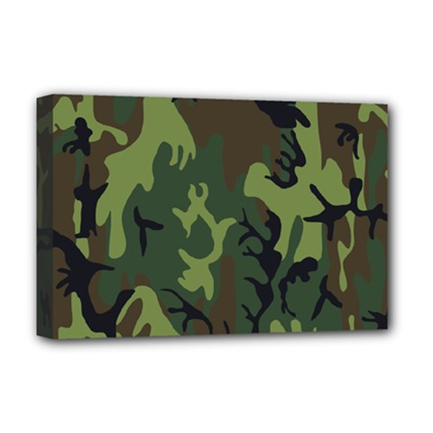 Military Camouflage Pattern Deluxe Canvas 18  x 12