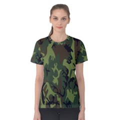 Military Camouflage Pattern Women s Cotton Tee