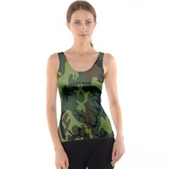 Military Camouflage Pattern Tank Top