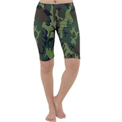 Military Camouflage Pattern Cropped Leggings