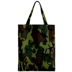 Military Camouflage Pattern Zipper Classic Tote Bag