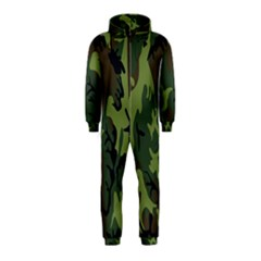 Military Camouflage Pattern Hooded Jumpsuit (Kids)