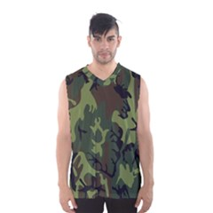 Military Camouflage Pattern Men s Basketball Tank Top