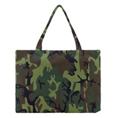 Military Camouflage Pattern Medium Tote Bag