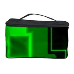 Green Cyber Glow Pattern Cosmetic Storage Case
