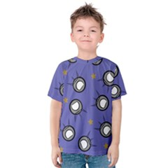 Rockets In The Blue Sky Surrounded Kids  Cotton Tee