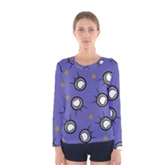 Rockets In The Blue Sky Surrounded Women s Long Sleeve Tee