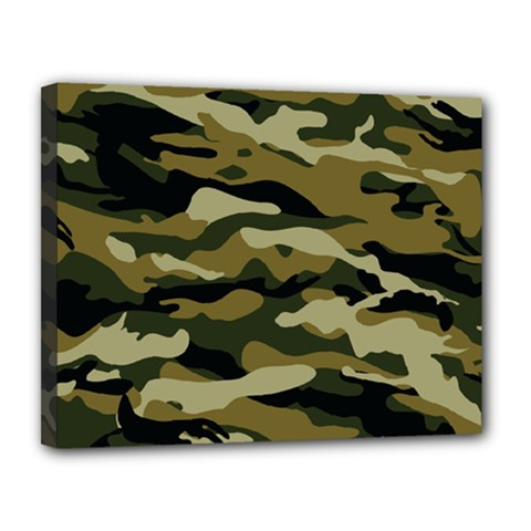 Military Vector Pattern Texture Canvas 14  X 11