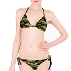 Military Vector Pattern Texture Bikini Set
