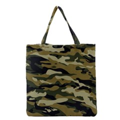 Military Vector Pattern Texture Grocery Tote Bag