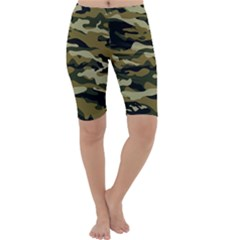 Military Vector Pattern Texture Cropped Leggings