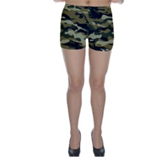 Military Vector Pattern Texture Skinny Shorts