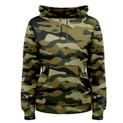 Military Vector Pattern Texture Women s Pullover Hoodie