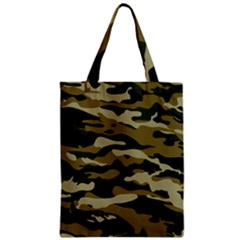 Military Vector Pattern Texture Zipper Classic Tote Bag